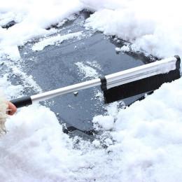 Aluminum alloy retractable ice shovel snow brush