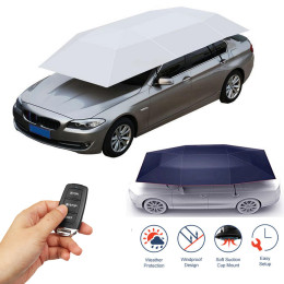 Portable Full Automatic Outdoor Car Tent Umbrella Roof Cover UV Protection Kits Car Cover