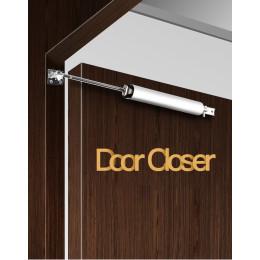 Automatic door closer buffer closing device