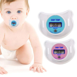 2pcs/Pack Baby Pacifier Thermometer with LCD Display