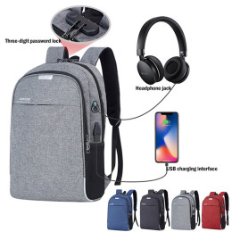 USB Charging Backpack with Digit Password Lock