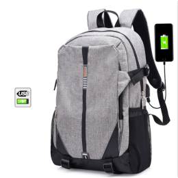 15inch Unisex Laptop Travel Backpacks with USB Charging Port