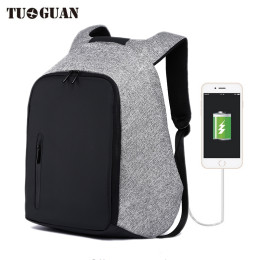 "TUGUAN 18"" Anti-theft USB Charge Port Waterproof Backpack"