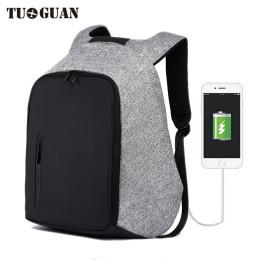 "TUGUAN 18"" Anti-theft USB Charge Port Waterproof Backpack"