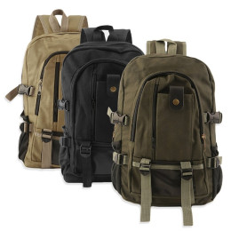 Backpack Vintage Canvas Rucksack Preppy School Shoulder Travel Satchel