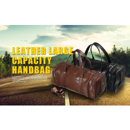 Heavy-duty Leather Travel Bag