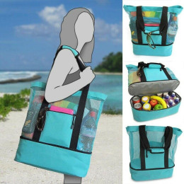 Multi-function picnic beach handbag camping cooler bag ice bag lunch bag with zipper