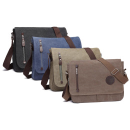 Men's Canvas Messenger Bag