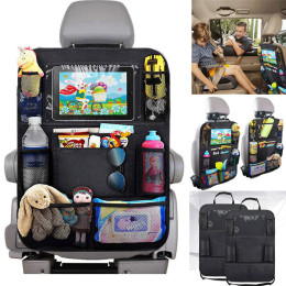 Car Backseat Organizer Muti-Pocket Back Seat Storage Bag with Touch Screen Tablet Holder