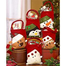 3pcs Santa Claus Snowman Elk Penguin Christmas Candy Gift Bags