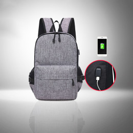 15inch USB Charging Backpack with several smart compartments and pockets