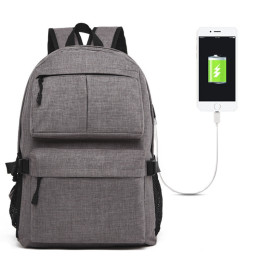 Laptop Backpack Usb Port Fit 15.6 Inch Water Resistant