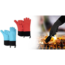 Household oven gloves anti-scalding silicone baking oven special