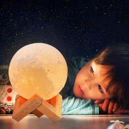 12cm Rechargeable 3D Print Moon Lamp