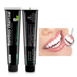 Natural Black Toothpaste Tooth Care Whitening Oral Hygiene Mint Bamboo Charcoal Toothpaste