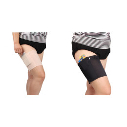 Anti-Chafing Thigh Bands with Storage Pocket