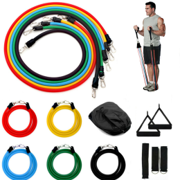 11 Pcs Resistance Bands Set Yoga Expander Fitness Exercise Home Training Gyms Elastic Workout Pull Rope