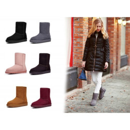 Genuine Leather winter snow boots for women