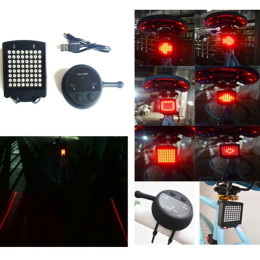 Bicycle Rear Tail Light With Wireless Remote Control