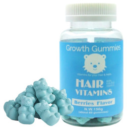 60pcs Chewable hair biotin vitamins gummy for hair