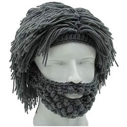 Creative Handmade Knit Bearded Hats