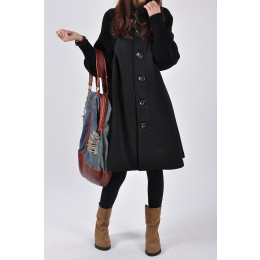 Women Jacket Overcoat Cloak Windbreaker Winter Wool Coat
