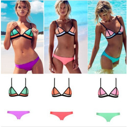 Fashion sexy bikini colour matching swimsuit