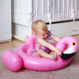 Inflatable Flamingo Swan Pool Float for Kids