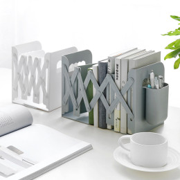 Creative retractable book stand with pen holder