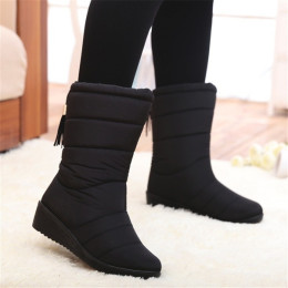 Winter Women Waterproof Tassel Snowboots