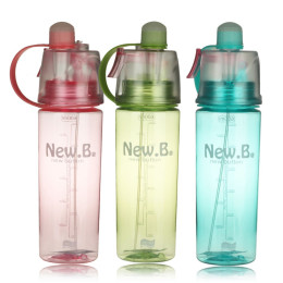 Water Bottle with Carry Handle and Straw
