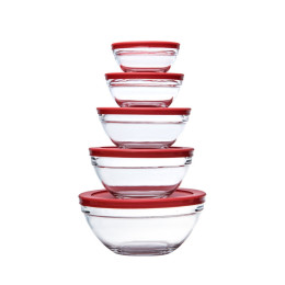 5pcs Glass Mixing Bowl Set