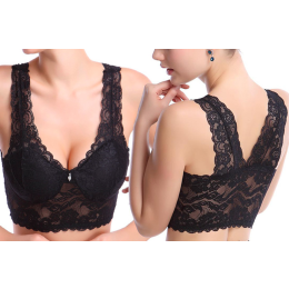 Wireless lace bra