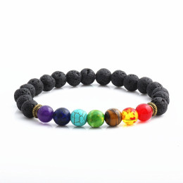 Men Women 8mm Lava Rock Bracelet