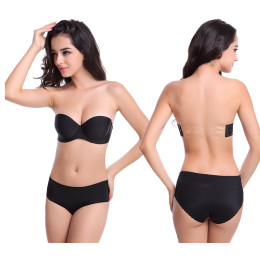 Strapless Seamless invisible halter bra