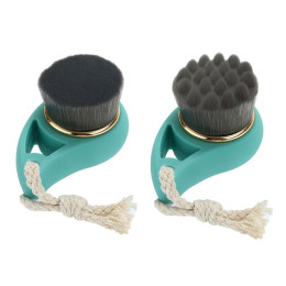 2pcs/PACK Bamboo Charcoal Facial and Deep Pore Cleansing Brushes