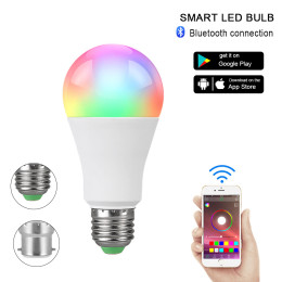 15W Smart Bluetooth Bulb for Home Festival Stage Bar Party Decoration, E27 RGB