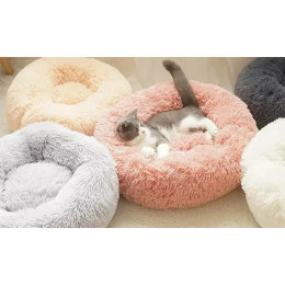 Round pet bed in the color and size of your choice