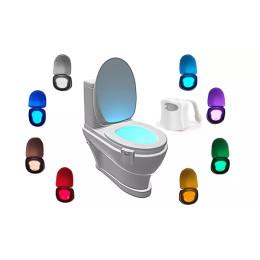 2pcs/Pack  8-Color LED Sensor Motion-Activated Bathroom Toilet Light