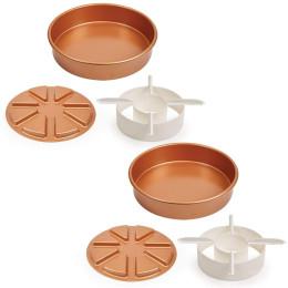 3pcs/Set Copper Chef Perfect Cake Pa
