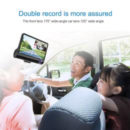 HD Front Rear & Interior Three Lens Car Dash Camera