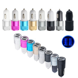 Dual USB Mini Car Charger Adapter for Universal