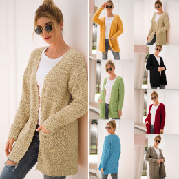 Long Knitted Fluffy Cardigans