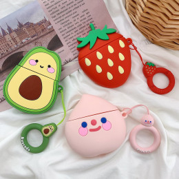 Earphone Case protective cover cartoon fruit silicone for airpods