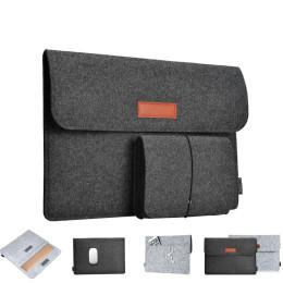 "Wool Felt Fashion Soft Sleeve Bag Case For Apple Macbook 12"" 13.3"""