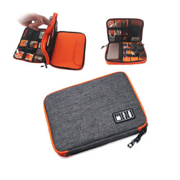Double layer-Electronics Waterproof Ipad Accessories organizer