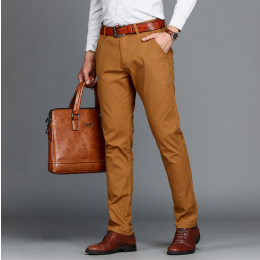Mens Pant Classics Casual Business Stretch trousers  Straight Pant