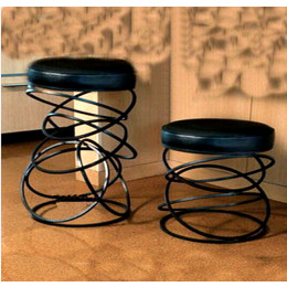 Iron creative chair stool