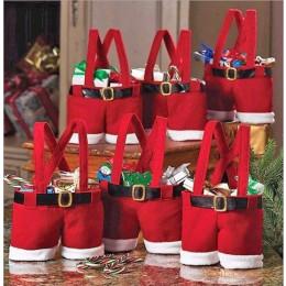 2pcs Santa Pants for Trick or Treat or Decor