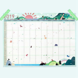 Laminated 2019 Wall Planners